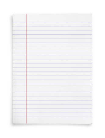 White paper sheet isolated on white background with clipping path. 免版税图像
