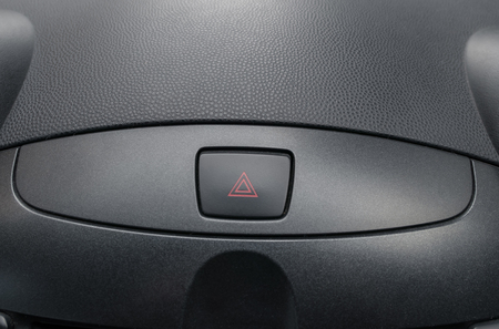 Car emergency button inside driver place.