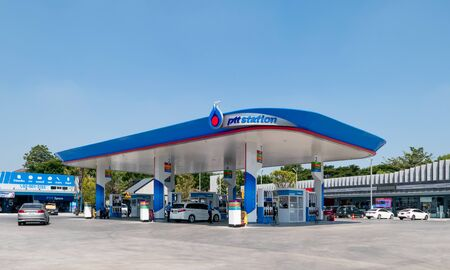 BANGKOK, THAILAND - November 5, 2018 : PTT Gas Station on Nov 5, 2018 in Thailand. PTT is a Thai state-owned SET-listed oil and gas company.