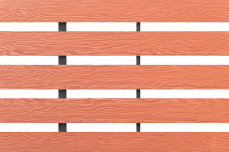Texture of wood lath wall isolated on white background with clipping path.