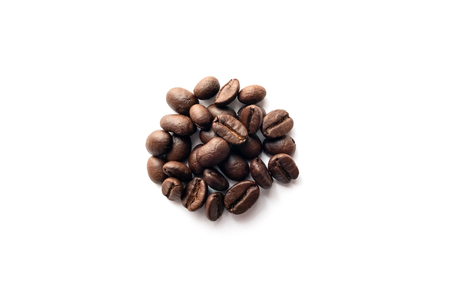 Coffee beans isolated on white background. Reklamní fotografie