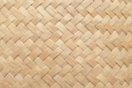Texture de panier en bambou à utiliser comme arrière-plan. Motif et texture de panier tissé. Image en gros plan.