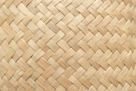 Bamboo basket texture for use as background . Woven basket pattern and texture. Close-up image. 免版税图像