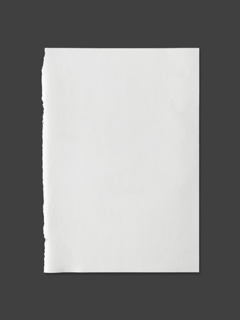 White sheet of paper texture for background with clipping path - Image