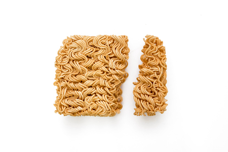 Instant noodles isolated on white background. Reklamní fotografie