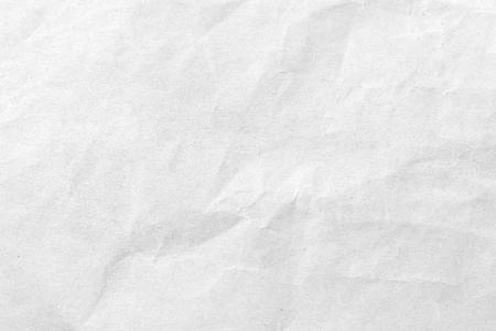 White crumpled paper texture background. Close-up image. Banco de Imagens