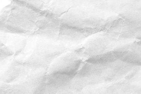 Priorità bassa di struttura di carta stropicciata bianca. Immagine in primo piano.