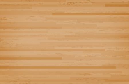 Piso de la cancha de baloncesto de arce de madera noble visto desde arriba. Patrón y textura de piso de madera. Ilustración vectorial. Ilustración de vector