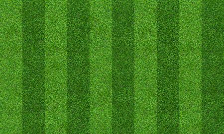 Grüner Rasenplatzhintergrund für Fußball- und Fußballsport. Grünes Rasenmuster und Beschaffenheitshintergrund. Nahaufnahme.
