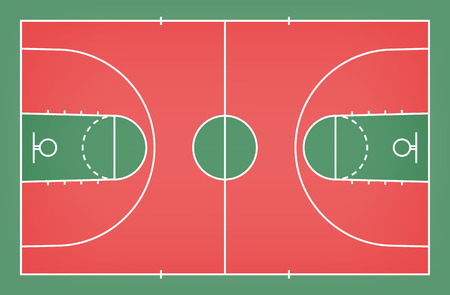 Basketball court floor with line for background. Basketball field. Vector illustration.