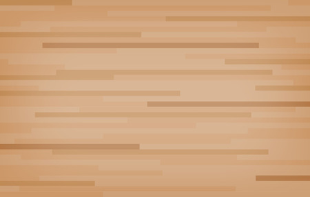 Hardwood maple basketball court floor viewed from above. Wooden floor pattern and texture. Vector illustration. Ilustração