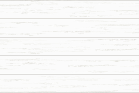 Biała drewniana deska tekstura tło. Ilustracja wektorowa.