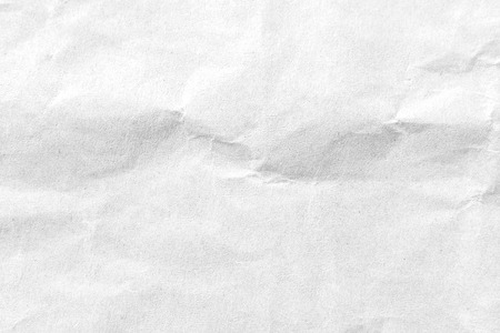 White crumpled paper texture background. Close-up image. Imagens