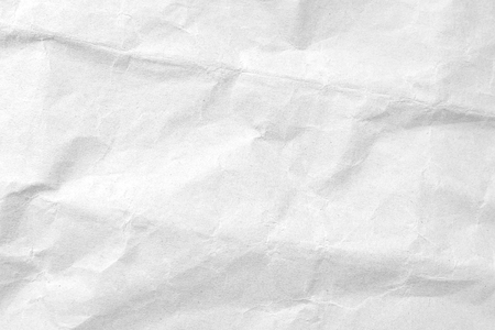 White crumpled paper texture background. Close-up image. Reklamní fotografie