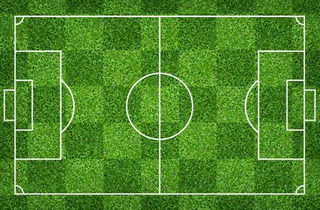 Campo da calcio o campo da calcio per lo sfondo. Campo da prato verde per creare giochi sportivi. Archivio Fotografico