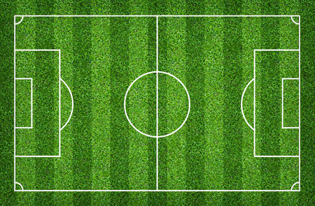 Football field or soccer field for background. Green lawn court for create sport game. Stockfoto
