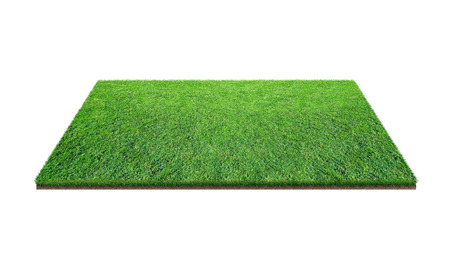 Green grass field isolated on white with clipping path. Artificial lawn grass carpet for sport background. Background for landscape, park and outdoor. 版權商用圖片