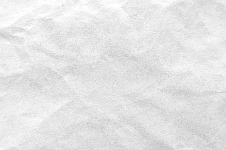 White crumpled paper texture background. Close-up image. 스톡 콘텐츠