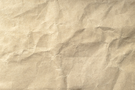 Brown crumpled paper texture for background.