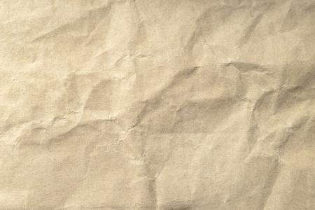 Trama di carta stropicciata marrone per lo sfondo. Archivio Fotografico