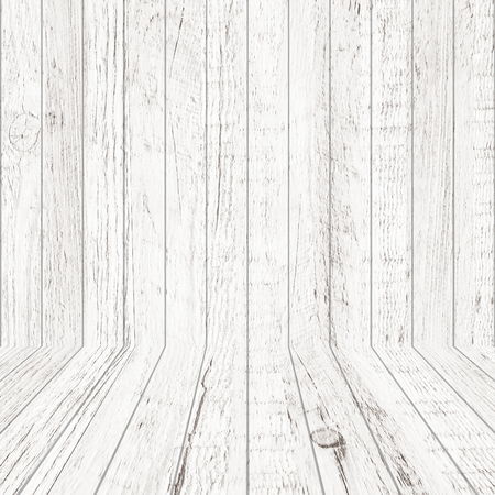 Vintage wood pattern texture in perspective view for background. Empty wooden room space background. Reklamní fotografie
