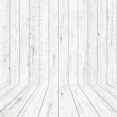 Struttura del modello di legno vintage in vista prospettica per lo sfondo. Fondo di legno vuoto dello spazio della stanza.