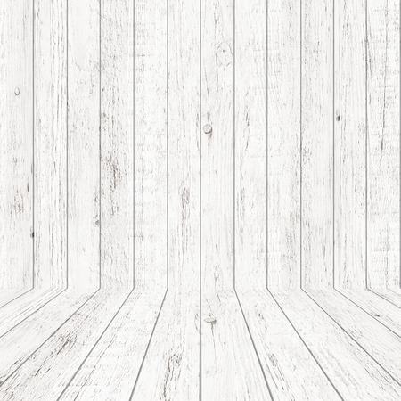 Vintage wood pattern texture in perspective view for background. Empty wooden room space background.