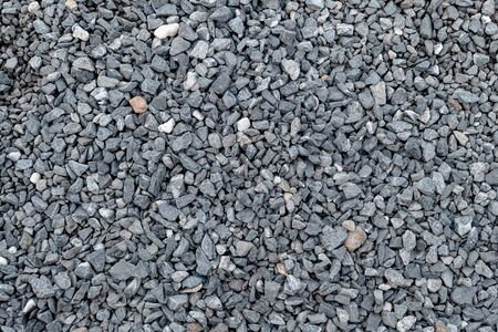 Granite gravel pattern and texture for landscape and construction. Close-up.