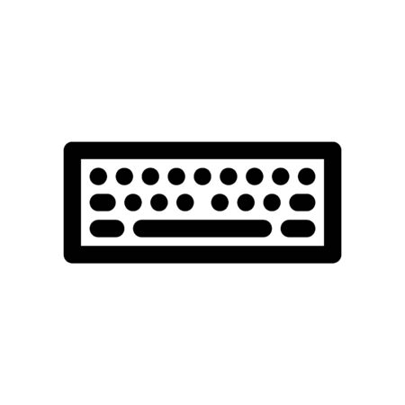 Computer keyboard sign and symbol for website design or template design. Vector illustration icon.