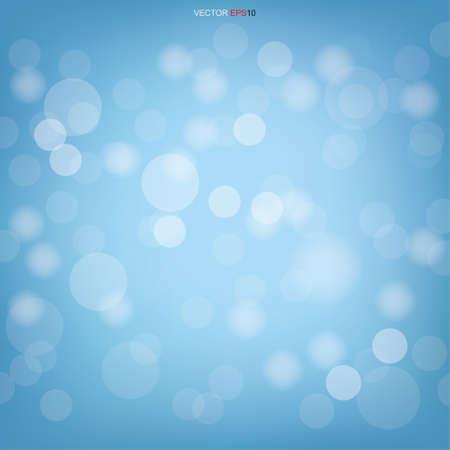 Blue bokeh. Abstract light blurred bokeh for background. Vector illustration. Ilustración de vector