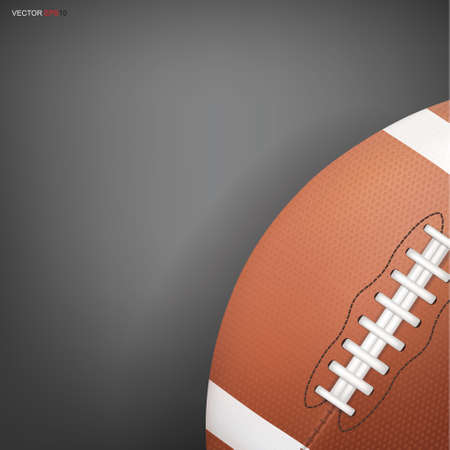 American football ball or rugby football sport for background. Vector illustration.