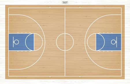Basketball court background. Basketball field. Vector illustration. Vector Illustration
