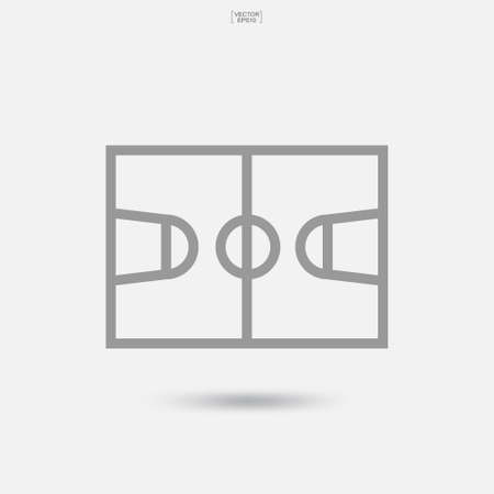 Basketball court icon. Basketball field symbol on white background. Vector illustration. Foto de archivo - 155875843