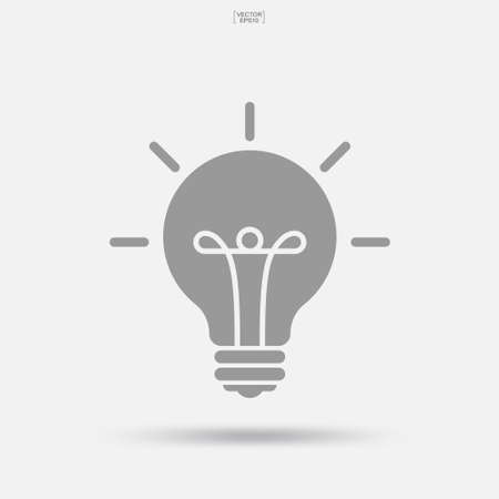 Light bulb icon. Lamp sign and symbol. Vector illustration.