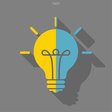 Light bulb icon. Lamp sign and symbol. Vector illustration. Foto de archivo - 155875996