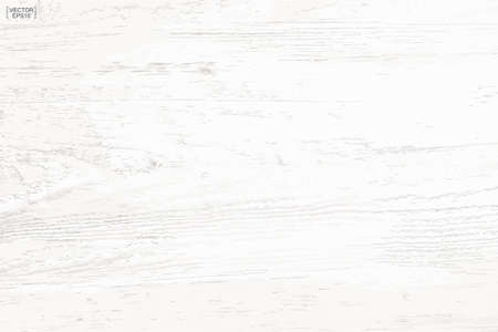 White wood pattern and texture for background. Vector illustration. Vectores