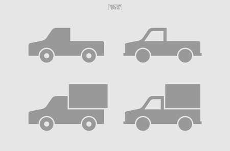 Car icon. Logistics truck icon. Delivery service car symbol. Vector illustration.