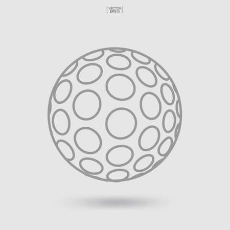 Golf ball icon. Sports ball sign and symbol. Vector illustration.