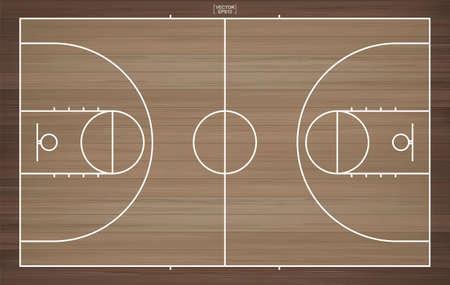 Basketball court background. Basketball field. Vector illustration.