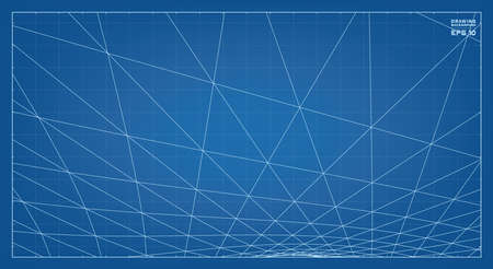 Abstract 3D wireframe pattern of surrounding contour pattern. Vector 3D illustration idea. 스톡 콘텐츠 - 155933667