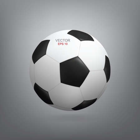 Realistic soccer football ball with soft shadow. Vector illustration. Vectores