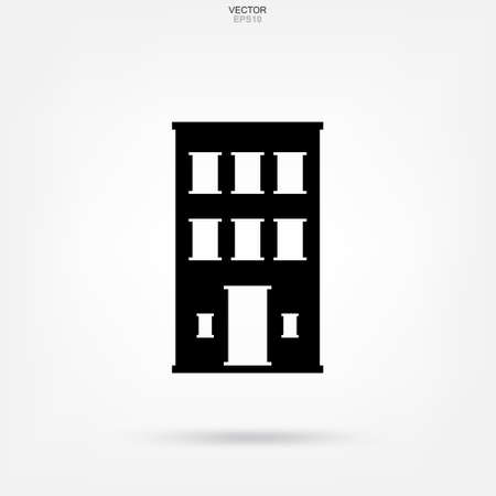 Building icon. Architecture identity with detail and element design. Vector illustration. Ilustrace