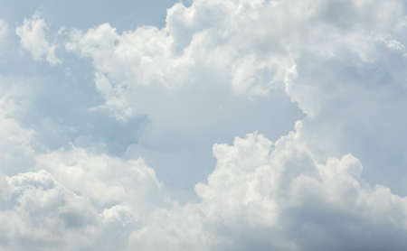 White cloud pattern and texture. Soft sky and clouds in daylight. Outdoor natural abstract background. Foto de archivo