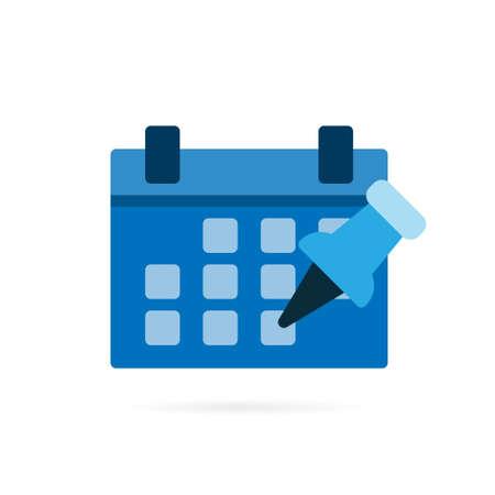 Calendar icon pictogram. Business symbol on white background. Vector illustration.