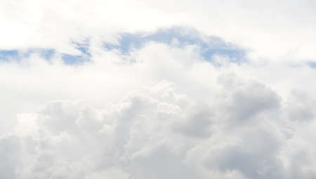 White cloud pattern and texture. Soft sky and clouds in daylight. Outdoor natural abstract background. Stock fotó