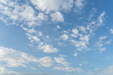 Blue sky and clouds with copy space. Stockfoto
