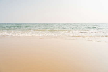 Empty sea and tropical beach background with copy space.