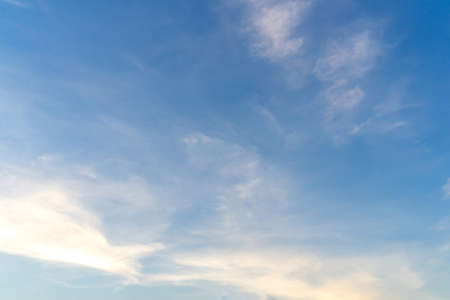 Beautiful clouds and blue sky. Soft sky with soft clouds for background. 版權商用圖片
