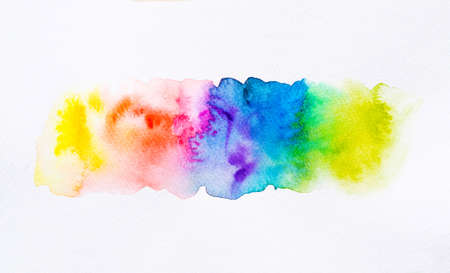 Colorful watercolor brush background. Abstract watercolor stain with paint blotch for banner, template, element for decoration. Close-up. Standard-Bild