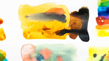 Abstract watercolor brush strokes with space for your own text. Close-up.